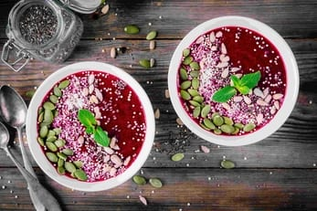berry smoothie bowl vegan plant-based healthy whole food